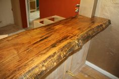 Live Edge Slab Wood Custom Bar Tops and Countertops Made From Your Choice of Wood and To Your Liking