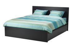 MALM queen high bed frame with four storage boxes #IKEA #PinToWin I want this badly but I'm so nervous for some reason.