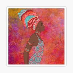 African Woman with a beautiful pastel watercolor background. • Millions of unique designs by independent artists. Find your thing. Pastel Watercolor, Watercolor Background, Transparent Stickers, African Women, Glossier Stickers, Finding Yourself, Enamel, Artists, Woman