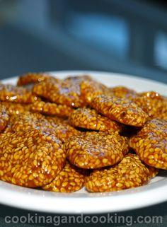 iranian food. poolaki Sesame Candy Recipe