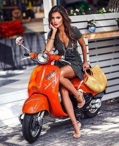 Vespa - shopping on my Vespa. - - Bikergirl - Vespa – shopping on my Vespa. – – Bikergirl – Vespa – shopping on my Vespa. Vespa Ape, Piaggio Vespa, Scooters Vespa, Motos Vespa, Scooter Motorcycle, Motorbike Girl, Motor Scooters, Lambretta Scooter, Scooter Girl