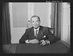 Washington, D.C. Edwin Barclay, President of the Republic of Liberia, is shown at a desk in historic Blair House following a press conference at the United States State Department | Library of Congress