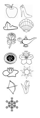 Disney Princess tattoo - symbol from each princess, chronological order - can add as new ones are introduced!