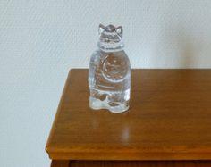 Vintage Lindshammar Sweden glass viking / Viking figurine / Modern glass