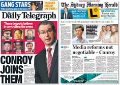 How the Australian media are covering Stephen Conroy's proposed media regulation reforms
