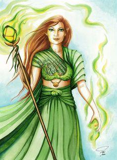 Green and Gold Fantasy di Anna Margaritou su Etsy