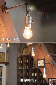 【商品番号:WOL-13-28】工業系ヴィンテージ/ターン式アルミ製スキニーソケットウォールランプ兼用ペンダントライト/アンティークインダストリアルウォールライト照明/ Hi-Romi.com(ハイロミドットコム) (TEL)078-203-9620 (Mail)info@hi-romi.com (URL)http://hi-romi.com