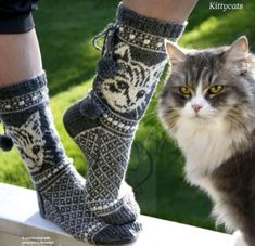 Translated version of test.txtValentines day gifts ideas for girlfriend & valentines day ideas Baby Afghan Crochet, Crochet Socks, Knit Mittens, Knitting Socks, Baby Knitting, Knit Crochet, Knitting Stiches, Knitting Patterns, Knitted Cat