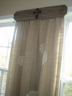 What a great idea for unique drapery!  Possibility for bathroom window?  Maybe use a lighter, airier fabric, and pull to one side.  CLM