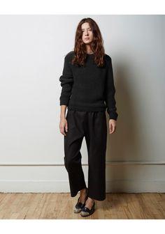 la garçonne moderne   gallery pant   sylvia alpaca handknit pullover