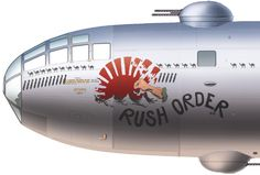 "b29 noseart ""rush order"""