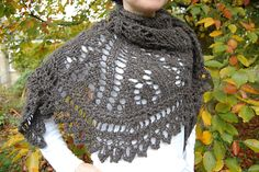 """This is a happy shawl. Big, bold, cosy. It brings a smile to your face and a spring to your step when you wear it. One for those days when you want to answer a big """"yes"""" to the eternal """"why"""" of life."""