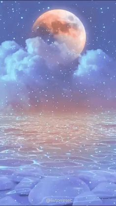 LIVE WALLPAPER | SHINE | AESTHETIC | MOON | CLOUDS | WATER | BRIGHTNESS | By @livtorresec