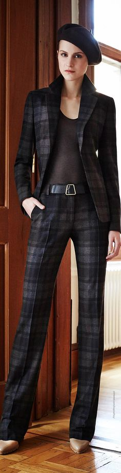 Pre-Fall 2014 Akris via @kamarobb78. #suits #plaid