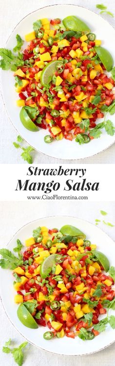 Strawberry Mango Salsa Recipe | CiaoFlorentina.com @CiaoFlorentina