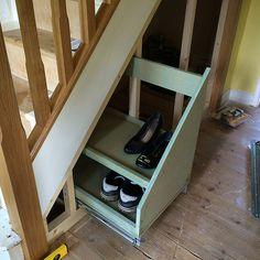 61 Best Ideas Cupboard Under Stairs Storage Cabinets Staircase Storage, Stair Storage, Staircase Design, Closet Storage, Built In Storage, Diy Storage, Storage Ideas, Under Stairs Drawers, Stair Drawers