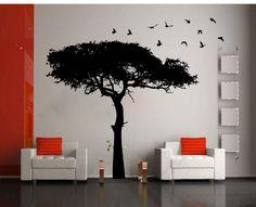 decorative_wall_sticker_bosveld_boom Wall Decor Stickers, Vinyl Wall Art, Wallpaper, Creative, House, Interiors, Home Decor, Decoration Home, Home