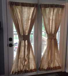 burlap window treatments Burlap Sheers French Door Drapes Burlap Curtains French Country Window Treatment Burlap Panel Lined Burlap Drapes Custom Made to Order This listing is Door Panel Curtains, French Door Curtains, Country Curtains, Drapes Curtains, Bathroom Curtains, Cheap Curtains, Purple Curtains, Luxury Curtains, Yellow Curtains