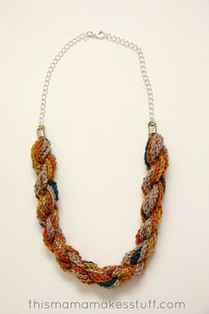Bohemian Twist Yarn Necklace - something so simple might not take too long to make; could this sort of pattern make my etsy shop take off?
