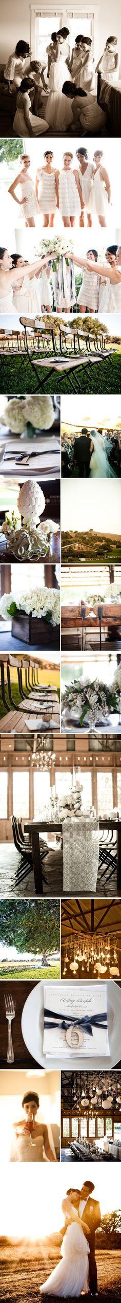 Black, white and grey wedding