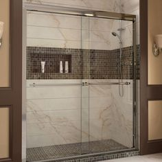 "DreamLine DL-6953L-01CL Duet Frameless Bypass Sliding Shower Door and SlimLine 36"" by 60"" Single Threshold Shower Base - Mega Supply Store - 1"
