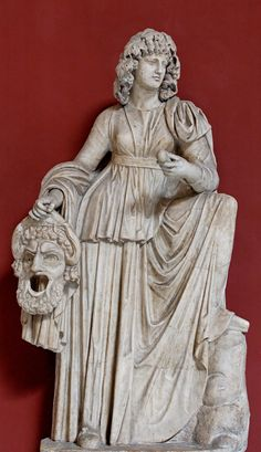 Melpomene, Muse of tragedy. Marble, Roman artwork from the 2nd century CE.