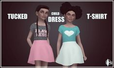 Tucked T-Shirt Dress at Onyx Sims • Sims 4 Updates