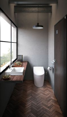 Excite Your Site visitors with These 14 Adorable Half-Bathroom Styles Bad Inspiration, Bathroom Inspiration, Bathroom Styling, Bathroom Interior Design, Ideas Baños, Muji Home, Small Bathroom Wallpaper, Cheap Bathroom Remodel, Dual Flush Toilet