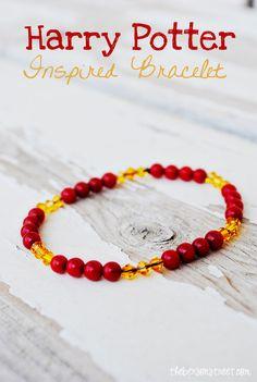 Harry Potter Gryffindor Inspired Bracelet at thebensonstreet.com