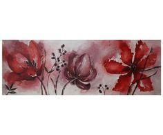 quadri moderni con fiori tulipani   Bordado a mano   Pinterest ...
