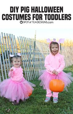 Awesomely cute halloween costumes for girls you can make yourself diy pig halloween costumes for toddlers two styles solutioingenieria Choice Image