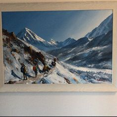 Mount Everest Sunrise View From Tengboche Nepal Original Painting