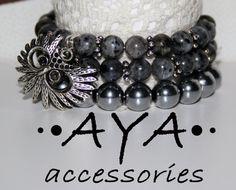 Black bracelet Hematite Bracelet Labradorite Bracelet от AYABRAND, $43.00