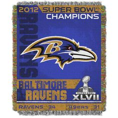 Baltimore Ravens Superbowl Champs Tapestry #baltimore #ravens #BaltimoreRavens #football #Superbowl #champs #decor #fashionable #sports #Ravensfanmusthaves #well_thread