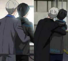 Victor can't be an arm left off Yuri Katsuki Yuri, Yuuri Katsuki, Ice Skating, Figure Skating, Victor Y Yuri, Yuri On Ice Comic, Victor Nikiforov, Animes On, ユーリ!!! On Ice
