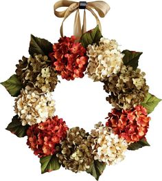 Stunning Hydrangea Wreath, summer wreath, with green, cream, and burnt orange artificial hydrangeas. A warm and welcoming door wreath. Great housewarming gift idea.  The wreath in the photo is a 9 - Hydrangea Wreath  WREATH SIZES • 6 Hydrangea wreath measures 15-16 in diameter and 5 deep. • 9 Hydrangea wreath measures 19-20 in diameter and 5 deep. • 12 Hydrangea wreath measures 22-24 in diameter and 5 deep.  ♥ See what other Customers are saying: http://etsy.me/1SojGpC → Click here if you…
