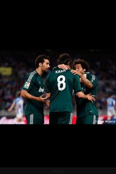 Arbeloa , Kaka , & Marcelo Real Madrid, Sports, Fictional Characters, Hs Sports, Sport, Fantasy Characters