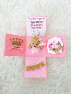 ⭐️ $10 per invitation ⭐️ samples available, please message me for pricing. (Samples cannot be modified or personalized) ⭐️ MINIMUM ORDER of 5 invitations. Less than 5 will be canceled. ⭐️ invitation measures 3x3x3 (size cannot be altered) ⭐️ teddy bear measures est. 3 ⭐️ teddy