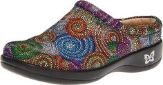 Alegria Women's Kayla Clog,Bullseye,36 EU/6-6.5 M US Patented removable footbed. Patented cushioned memory foam and cork footbed. Slip resistant sole.  #Alegria #Shoes