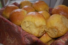 Pumpkin Spice Rolls - Imagine these served with cinnamon honey butter - oh my!