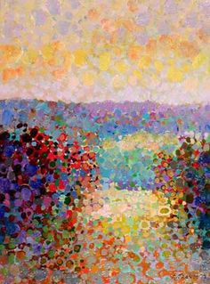 Angelo Franco, pointillism. Why is it that all the art I would love to own is so expensive that it doesn't even come with a price tag? :sigh