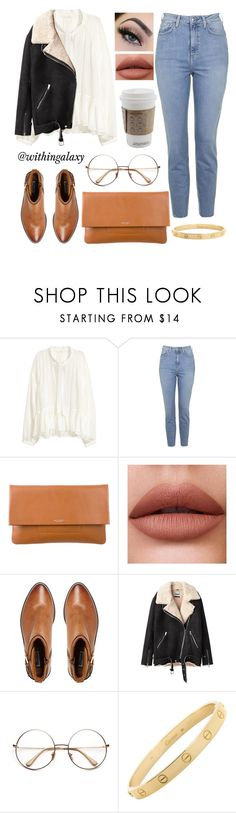 """""""Clutch"""" by withingalaxy ❤ liked on Polyvore featuring Topshop, Michael Kors, Dune, Acne Studios and Cartier"""