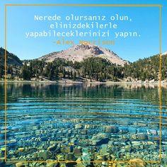 Nerede olursanız olun, elinizdekilerle yapabileceklerinizi yapın... özlü sözler resimli Baku Azerbaijan, Insta Like, Mountains, Love, Travel, Instagram, Audio, Olinda, Amor