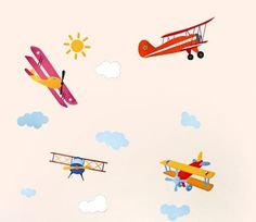 Wall Stickers for Kids Stick Wall Decals Wall Decals Decoration Wall Sticker Decal - Planes by bigbvg, http://www.amazon.com/dp/B0088I9B0G/ref=cm_sw_r_pi_dp_plg0pb11MSK43