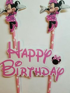 Minnie  Birthday Cake Topper Decoration Party Supplies. | Home & Garden, Greeting Cards & Party Supply, Party Supplies | eBay!