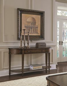 Chateaux Walnut Console Table