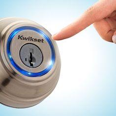 Kwikset bluetooth deadbolt lock. So clever and convenient.