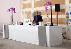 """Buffet et décoration florale pour le coup d'envoi du chantier """"Vill Up"""" au parc de la Vilette"""