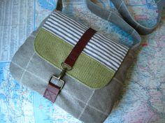 Walker crossbody messenger bag by atlaspast on Etsy,