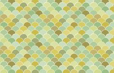 Origami Hills - mustard/mint fabric by flytrap on Spoonflower - custom fabric